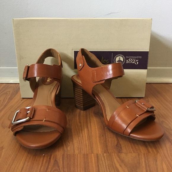 702c17426de332 NWT Clarks Ralene Dazzle Tan Leather Sandals 5.5